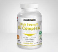Vitamine B Complexe 180 Comprimés B1 B2 B3 B5 B6 B12 Acide Folique D-Biotin