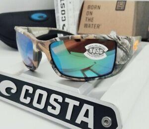 """580G - COSTA DEL MAR realtree camo/green mirror """"BLACKFIN"""" POLARIZED sunglasses"""