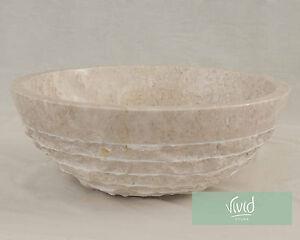 Marble Stone Bathroom basin by Vivid Stone 40cm Diameter 15cm High