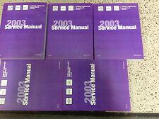 2003 CHEVY TRAILBLAZER GMC ENVOY & BRAVADA Service Shop Repair Manual SET NEW
