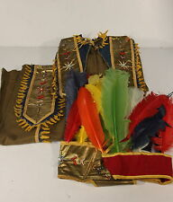 Rare Vintage Ruff' N Ready Play Suits Native American Indian Costume Head Dress
