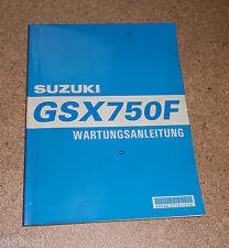 Workshop Manual Suzuki GSX 750 F Stand 06/1998