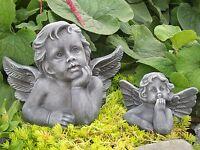 Steinfigur Engel Putte Grabschmuck Gartendeko Gartenfigur Skulptur frostfest