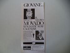 advertising Pubblicità 1967 MOVADO KINGMATIC SURF CALENDAR
