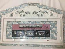 Vintage Capital Products White Aluminum Tile Address Frame / House Number Sign