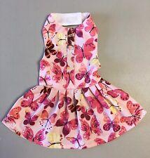 Dog Clothes Harness Dress Butterflies Print Size: 6 XS
