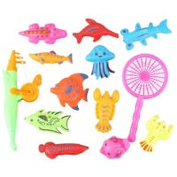 Bath Toy Fishing Fish Model Magnetic Bathtub Set Gift for Baby Child - 15pc D3S4