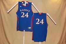 KANSAS JAYHAWKS  Adidas  #24   Basketball JERSEY   XL   NWT   blue   $55 retail