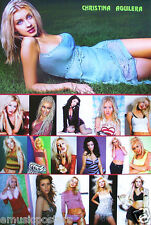 "Christina Aguilera ""Collage Of 17 Cute, Hot, Sexy, Beautiful Shots"" Asian Poster"