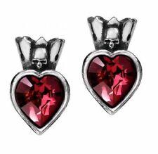 Alchemy England - Claddagh Heart Studs, Love Crown Skulls Wicca Gothic Punk Gift