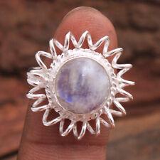 Moonstone Gemstone 925 Sterling Silver Jewelry Designer Ring Size US 7