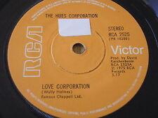 "Las tonalidades Corporation-Love Corporation 7"" Vinilo"