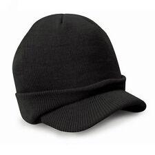 Hot Mens Womens Unisex Peaked Beanie Winter Ski Hat Warm Knitted Baseball Cap