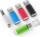 5 Pack 32GB USB 2.0 Flash Drive Memory Stick Thumb Drives (5 Mixed Colors) picture
