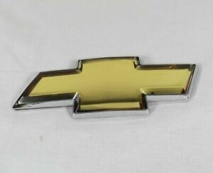 CHEVY IMPALA GRILLE EMBLEM 06-13 FRONT GRILL GOLD BOWTIE BADGE symbol sign logo
