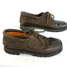 Timberland GTX Boat shoes UK 10.5 M Leather Gore-tex membrane Vibram Sole