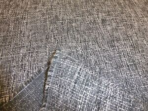 Job Lot - 10 metres of GREY & BLACK - Chunky Weave Upholstery / Curtain Fabric