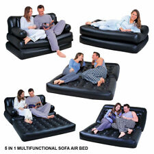 5 IN 1 SOFA AIRBED  INFLATABLE DOUBLE COUCH LOUNGER MATTRESS BLOW UP