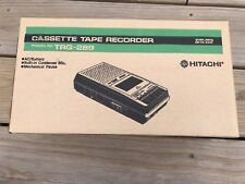Vintage Orginal Hitachi Cassette Tape Recorder Trq-289 Works Great 80's