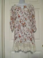 Umgee Floral Lace Boho Tunic / Dress Size S NWT  Anthropologie