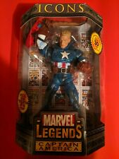 Marvel Legends Icons Captain america Unmasked Variant. ToyBiz. New, sealed.