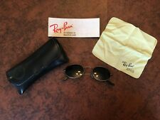 Vintage Bausch & Lomb Ray-Ban Gunmetal Sunglasses Small Oval W1283