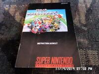 Super Mario Kart (SNES Super Nintendo) Instruction Manual Only.. NO GAME