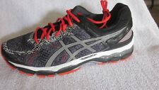 Men's ASICS GEL Kayano 22 Lite-show Running Shoes Carbon Silver Cherry Tomato 10