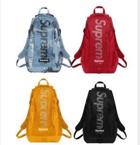 NEW SS20 Supreme Backpack Designer Brand Bag Rucksack Travel HOT  NEW 4 colors