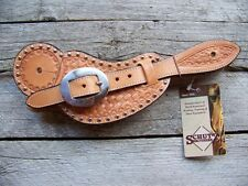Spur Straps - Buckaroo with Spots (Mens - Natural Basketweave)