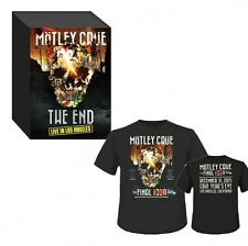 New! MOTLEY CRUE THE END Last Live in Los Angeles, Live DVD+CD+T-Shirt L, Japan