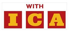Shell 'With ICA' red & yellow vinyl decal for Gilbarco / Wayne petrol bowser