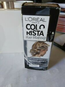 LOREAL COLORISTA  HAIR MAKEUP 1 DAY COLOUR HIGHLIGHTS Metallic Grey Hair❤❤❤