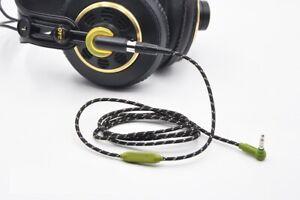 Nylon Audio Cable with mic For Pioneer HDJ-2000 HDJ-2000MK2 headphones