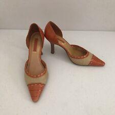 UNISA Women's high Heels Shoes size 6 Casual Orange Beige  Genuine Leather