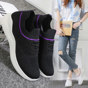 Womens Running Trainers Knit Jogging Sneakers Ladies Breathable Sports Shoes New