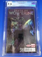 CGC Comic graded 7.5 death of wolverine #4 holofoil cover Key