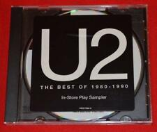 U2 Selections From The Best Of 1980-1990 In-Store Sampler 10 Track Promo CD RARE