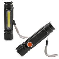 Cob Led Zoomable Lampe De Poche Usb Rechargeable Lampe Torche Aimanté