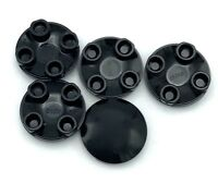 Lego 5 New Black Plates Round 2 x 2 with Rounded Bottom (Boat Stud) Pieces