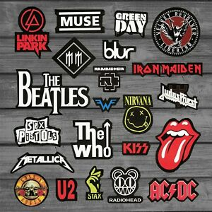 Heavy Metal Rock Punk Band Stickers For Guitar Car Styling On Laptop Skateboard