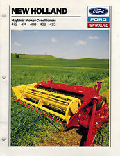 NEW HOLLAND 472 474 488 489 495 HAYBINE  MOWER CONDITIONER SALES BROCHURE 1988