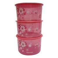 Tupperware Liquid Tight & Airtight Sakura One Touch x 3 units - Free Shipping