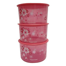Tupperware Liquid Tight & Airtight Sakura One Touch x 3 units - Free Shipping