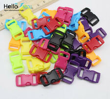 "Wholesale 3/8"" 10mm Curved Side Release Plastic Buckles Paracord Bracelet DIY"