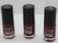 3PK Maybelline Color Show Nail Polish Wine and Forever 215.23 oz