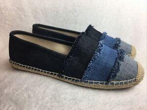 New Michael Kors Women's Size 10 M (40) Espadrille Flats Shoes Blue Jean Color