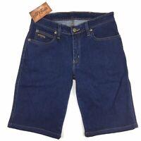 RM Williams Stockyard Womens Merita Denim Shorts Blue Size 14 NEW