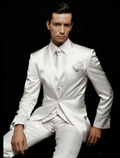 2018 White Men's Wedding Suits Groom Tuxedos Formal Business Party Dinner Suits
