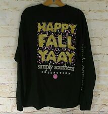 "NWT Simply Southern ""Happy Fall Yaay"" Size Womens Sz. Large- READ AD"